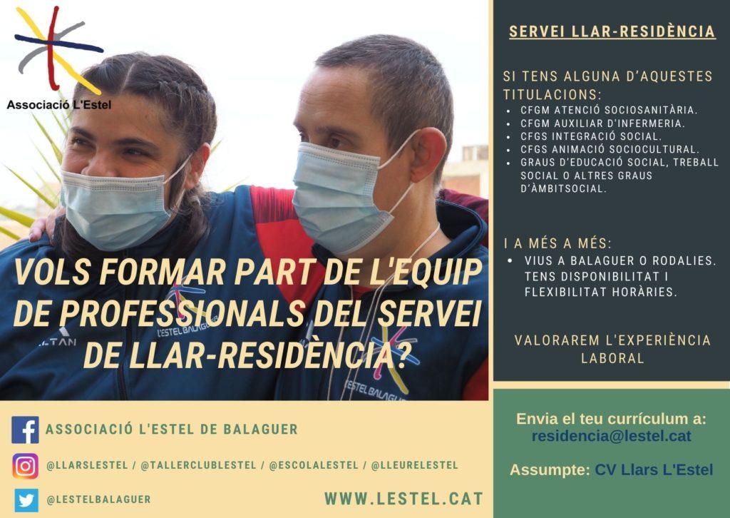 Vols treballar amb nosaltres